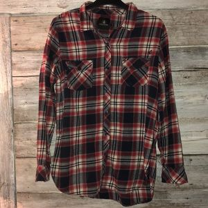 VOLCOM Flannel Long Sleeve Shirt Size Medium